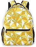 animal cara patrón básico viaje portátil mochila novedad escuela bag-abstracto geométrico con oro