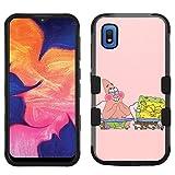 for Samsung Galaxy A10e Case, Galaxy A10e Hard+Rubber Dual Layer Hybrid Heavy-Duty Rugged Impact Cover Case - Sponge Bob #FN