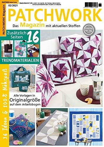 """Patchwork Magazin 2/2021 \""""16 Seiten Trendmaterialien\"""""""