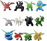 Kshong 12 unids / Set Cómo Entrenar a tu dragón Mini Figura de Juguete Modelo de PVC Figuras de acción de Dibujos Animados Juguetes para niños Regalo de decoración de muñeca de Anime