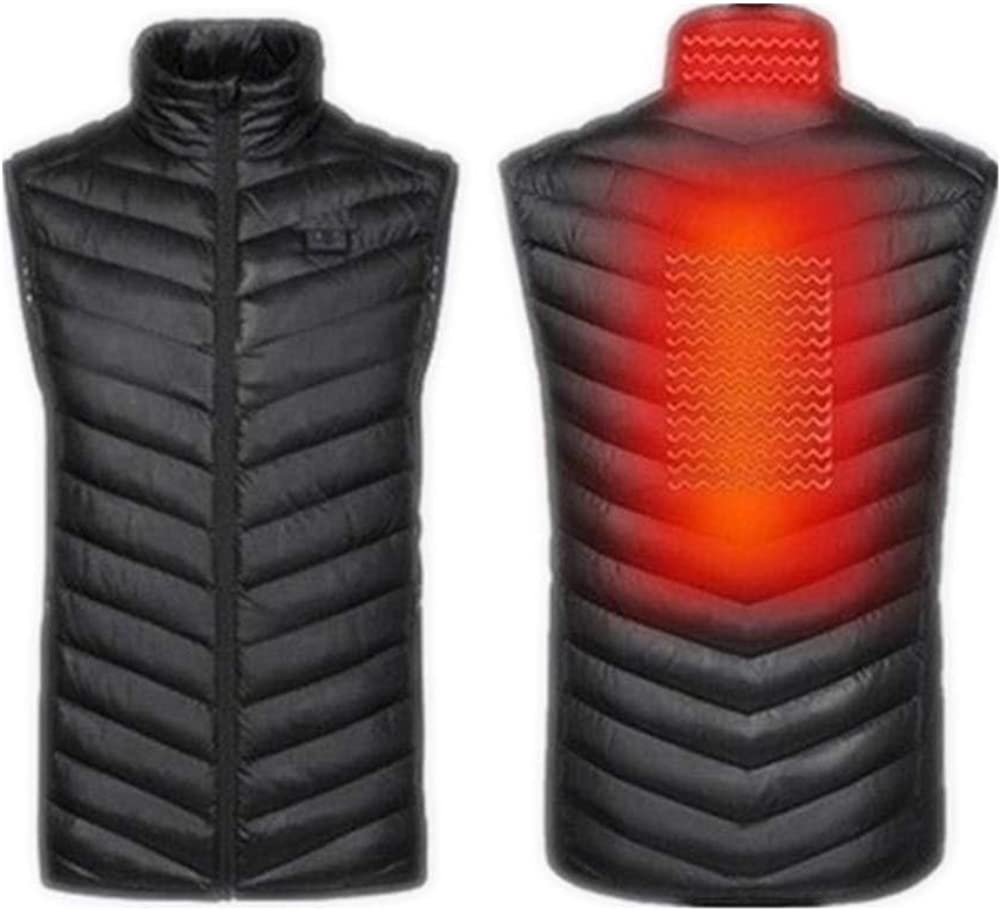 YoJiSa Electric Heated Vest Men Women Washable Heating Warm USB Recharge Jacket