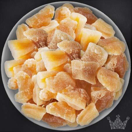 Ingwer Würfel, Stücke, 1kg, Trockenfrüchte, hoch aromatisch, scharf, ungeschwefelt, leicht kandiert - Bremer Gewürzhandel