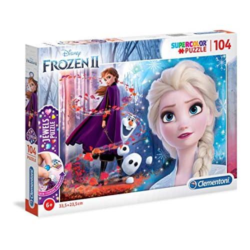Clementoni-Clementoni-20164-Jewels Disney Frozen 2-104 Pezzi, Puzzle Bambini, Multicolore, 20164