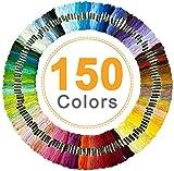 Hilos Punto de Cruz, Vibeey Hilos para Bordar 150 Colores Hilo para Pulseras Madejas de...