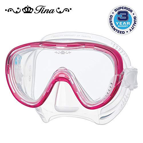 Tusa Tina - Zirkone Taucherbrille tauchmaske schnorchelmaske damen - rosa