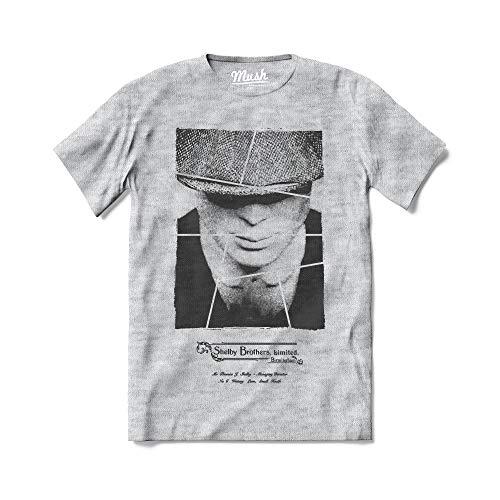 Mush dressyourstyle T-Shirt Shelby Company Ltd Thomas Peaky Blinders Uomo - TV Series Netflix - Maglietta a Manica Corta 100% Cotone Organico - L