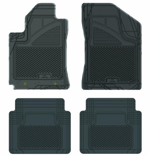 Koolatron Pants Saver Custom Fit 4 Piece All Weather Car Mat for Select Pontiac Vibe Models (Black)