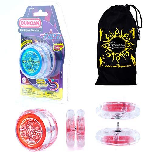 _Duncan Pulse LED yoyo (Blau) Lichtgevende Yo Yo + stof reistas. Grote yoyo voor kinderen en volwassenen.