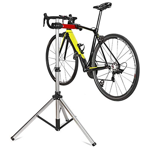 DoCred Bike Repair Stands, Adjustable & Foldable Bicycle Maintenance Rack Workstand with Storage Bag, Home Mechanics 85lbs Extensible Tripod Base Park Tool Repair Stand for Road & Mountain Bikes