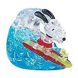 3D Crystal Puzzle - Peanuts Snoopy Surf: 41 Pcs