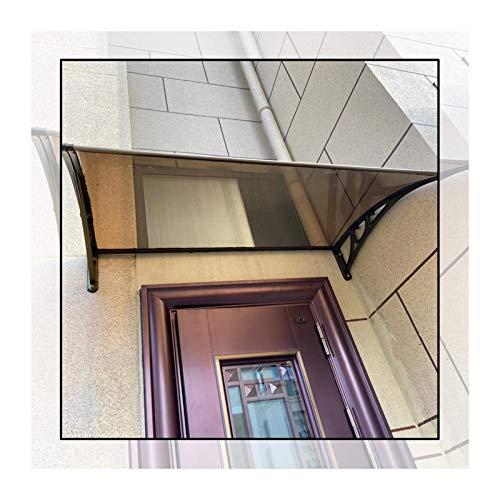 GuoWei Marquesina para Puertas Ventanas, Toldo Resistente A Los Rayos UV para Balcón De Jardín, Cubierta Extensible De Lluvia Y Nieve, Tamaño Personalizado (Color : Brown, Size : 60x60cm)