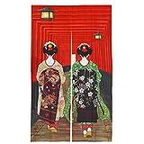 Wakauto Cortina de Puerta Japonesa Tapiz de Puerta Larga para Decoración de Puerta de Cocina Casera