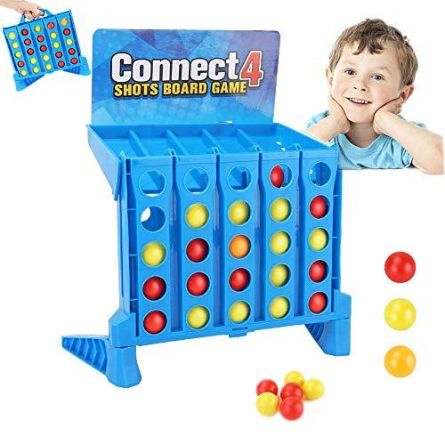 Aday Bouncing Linking Shots Conecta 4 Disparos Brettspiel Juego para niños en la Familia