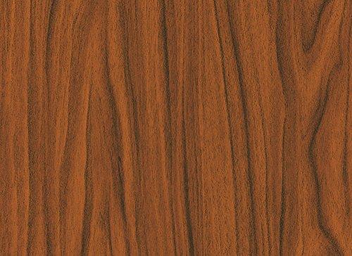 Alkor 3800037 Pellicola Adesiva per Mobili, Effetto Noce Dorata, 45 cm x 2 m