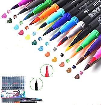 24-Pack barsone Calligraphy Point Coloring Marker Ink Pens