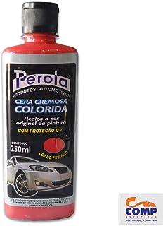 Cera Cremosa Vermelho Claro Com Proteção UV 250 ml Pérola 28501