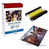 Papel fotográfico Selphy KP-36IN 1 Casete de tinta de color / 36 hojas Compatible con las impresoras fotográficas Canon Selphy Series CP1300 CP1200 Tinta y papel Tamaño de tarjeta postal 100 x 148mm