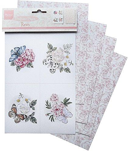 Marianne Design Papel perfumados Rosas, Multicolor