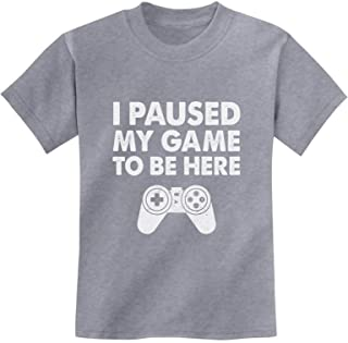 Tstars - I Paused My Game to Be Here Funny Gift for Gamer Youth Kids T-Shirt