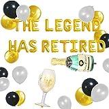 JeVenis Juego de 18 globos de The Legend Has Retirement Happy Retirement Globos Happy Retirement Party Decoraciones Happy Retirement Banner Globos