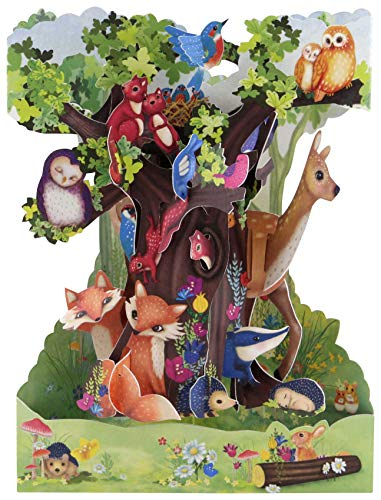 Forest Animals Swing Card - Santoro 3D Pop-Up Greeting Card for Him & Her