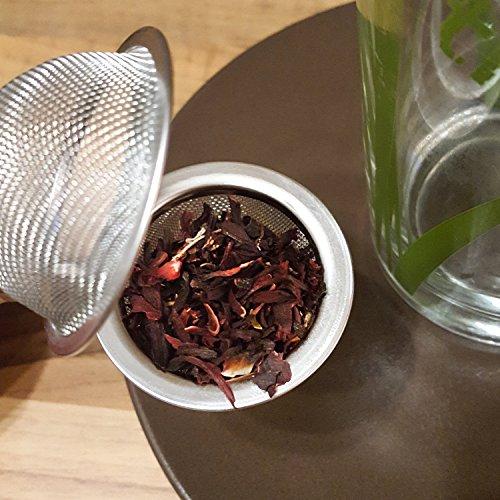 COM-FOUR® Tee Ei Sieb Teeei Teezange Teesieb für Teeliebhaber (Ø 4,5 – 2 Stück) - 2