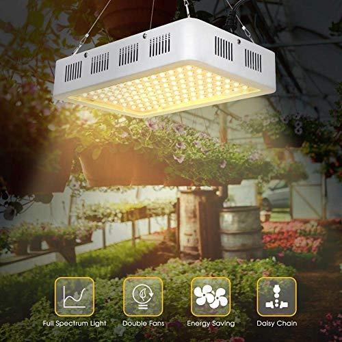 1200W LED Plant Grow Light, High Power Full Spectrum 120 LEDs Sunlight Plant Grow Lamp Panels with Hydroponic Daisy Chain Function, for Vegetable Fruit Start Seedlings Veg Flower Tomato Home Indoor