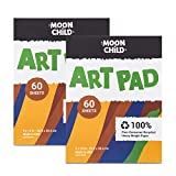 """All-Purpose Fingerpaint Paper Pad – The perfect painting pad to pair with Moon Child Nature Paint this 9"""" x 12"""" art paper pad is ideal for helping kids express their creativity and promote early learning through colors, painting, and fun. Classic Pai..."""