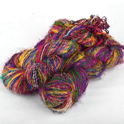 Stenli® zijden garen 100% natuurlijk, ideaal voor blouses, kleding, sjaals, breiwerk, 100g/90m, verkrijgbaar in 13 kleuren - Holi Color #11