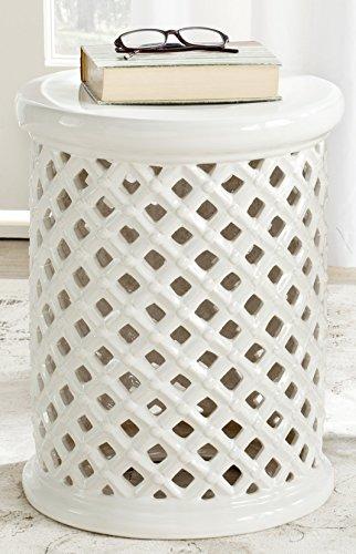 Safavieh Isola Glazed Ceramic Decorative Garden Stool, Cream