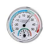 Angelliu - Termómetro de pared para interior, termómetro higrómetro, termómetro de pared vintage para casa, en la parte superior, en la parte inferior, garaje, invernadero