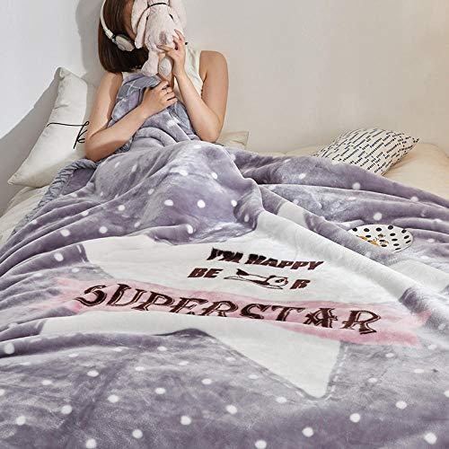 flqwe Super zacht pluizig warm massief bed gooit, dikker Raschel dekens voor de winter, extra zacht pluizig bed gooit dekens gezellig
