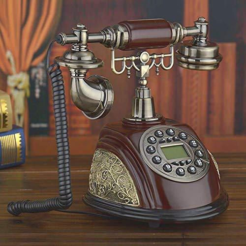 ADSE Teléfono residencial Retro de línea Fija de Estilo Antiguo con Tono de Llamada auténtico y dial de botón para la decoración del hogar