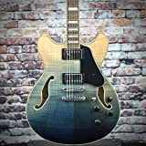 Ibanez AS Artcore AS73FM Semi-Hollow Body Electric Guitar (Transparent Indigo Fade)