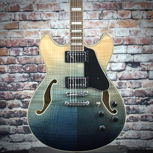 Ibanez AS Artcore AS73FM Semi-Hollow Body Electric Guitar (Transparent Indigo Fade)