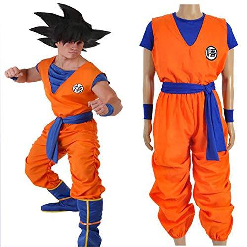 SSYYY Cosplay Kostüm Dragon Ball Son Goku Kleid Anime Kostüm Anzug Party Kostüm Für Erwachsene Komplette Kleidung,S