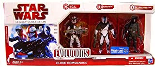 Star Wars Saga 2009 Evolutions Exclusive Set Legacy Collection Clone Commandos
