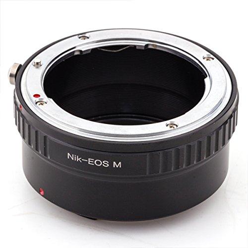 Pixco Adaptador de repuesto para objetivo Nikon F a Canon EOS M M10 M3 M2 M11 (Nikon-Canon EOS M)