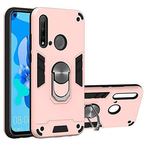 JZ [2 em 1] [Anel de rotação de 360 graus] Capa protetora para celular com suporte para Huawei P20 Lite 2019/Nova 5i - Ouro rosa