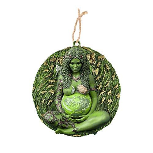 flouris Mutter Erde Gaia Kunst Statue Anhänger Gaia Göttin Hängende Verzierung Harz Figurtür Fensterdekoration Für Hausgarten, Geschenke Für Frauen Mama