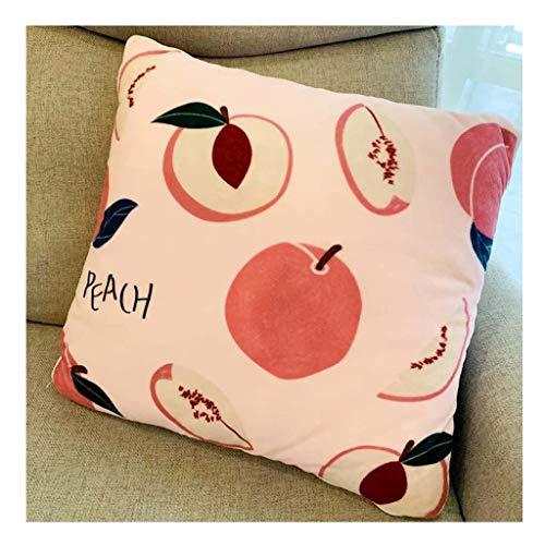 Totorowwj Obst Kissen Quilt Multifunktionale Cartoon Kissen Kreative Obst PP Cotton Kissen Quilt Bürostuhl Rückenkissen Quilt Sofa Decke Dekorative Für Baby,Peach