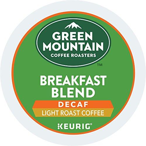 Green Mountain Coffee Roasters Keurig Single-Serve K-Cup Pods, Breakfast Blend Decaf Light Roast Coffee, 12 Count