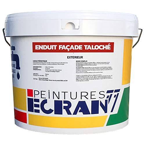 Enduit façade taloché hydrofuge, extérieur, prêt à l'emploi ECRAN 77 25 Kg