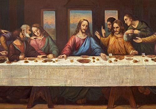 wandmotiv24 Fototapete Gemälde Darstellung Jesus und Jünger, XS 150 x 105cm - 3 Teile, Fototapeten, Wandbild, Motivtapeten, Vlies-Tapeten, Kunst Abstrakt M6005