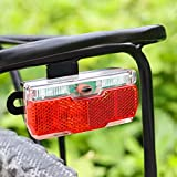 LZMXMYS Luz de bicicleta, luces de bicicleta AAA Batería Bike Fork Light and Bicycle Portador Trasero Luz Fácil Instalar Bicicleta Luz Set Ciudad Desplazamiento Bicicleta Lámpara de Seguridad Biciclet