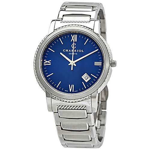 CHARRIOL Parisii 40MM Unisex Watch #P40S2.930.002 Stainless Steel, Blue Dial