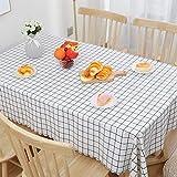 Tovaglia in Tessuto tovaglia Impermeabile e Resistente all'olio USA e Getta tavolino Rettangolare da Tavolo in PVC Tingting (Color : White Plaid, Size : 90 * 90)
