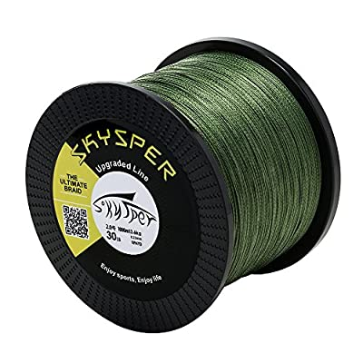 SKYSPER Fishing Line Braided Super Strong PE Abrasion Resistant 4 Strands Multifilament 500m/1000m 20lb 30lb 60lb 80lb from Soradoo