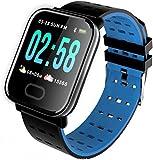 hwbq Reloj de fitness con monitor de ritmo cardíaco, monitor de sueño, monitor de actividad, reloj inteligente, pantalla a color, podómetro IP67
