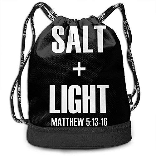 Rucksäcke,Salz Und Licht - Christliches Leben Bibel Vers Zitat Bundle Rucksack Mode Reiserucksack